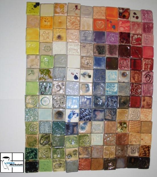 minimosaikfliesen im set regenbogenfarben 130 st ck ideen werkstatt onlinehop. Black Bedroom Furniture Sets. Home Design Ideas